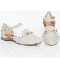 baletas beige kclass top 9383