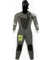 traje de agua g4 5/4/3mm con gorro gris stoked