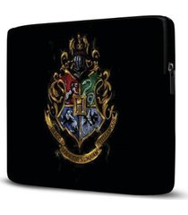 capa para notebook isoprene harry potter 15 polegadas com bolso - unissex
