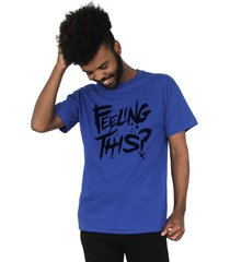 camiseta 182life feeling this royal - azul/cinza - masculino - dafiti