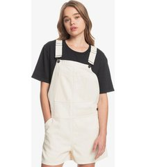 quiksilver womens tribal district organic overall shorts