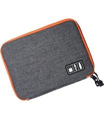 organizador para cable y audífono impermeable e-hot unisex - gris