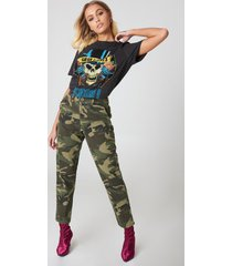 na-kd army loose fit pants - multicolor