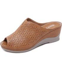 sandalias de cuña retro masaje sandalias mujer