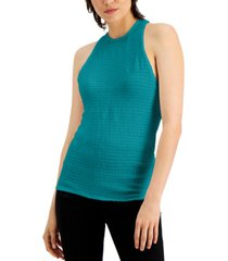 inc smocked halter top, created for macy's
