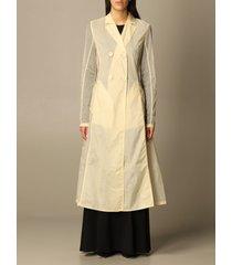 sportmax coat sportmax double-breasted trench coat in anti-drop nylon
