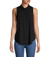 back drawstring sleeveless blouse