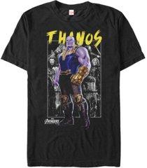 marvel men's avengers infinity war thanos portrait, short sleeve t-shirt