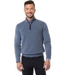 sweater half zipper denim arrow