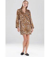natori cheetah sleepshirt sleepwear pajamas & loungewear, women's, size l natori