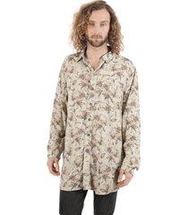 camisa asi-calado print crudo haka honu