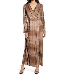women's fraiche by j tie-dye long sleeve maxi dress