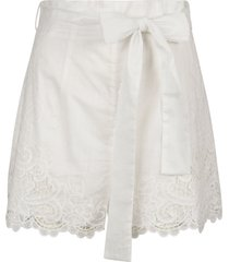 zimmermann laced detail bow tie shorts