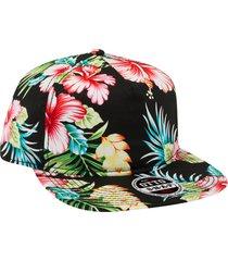 "otto hawaiian pattern cotton twill square flat visor ""otto snap"" five panel pro"