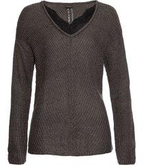 maglione con pizzo (grigio) - bodyflirt