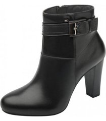 botin berry plataforma medio color negro flexi