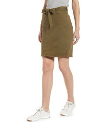 jen7 by 7 for all mankind stretch cotton skirt, size 18 in army at nordstrom