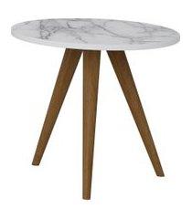 mesa lateral 400 branco/carrara be mobiliário