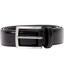 cinturon formal clasico negro corona