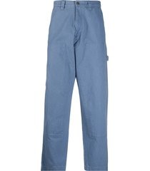 stussy chore work trousers - blue