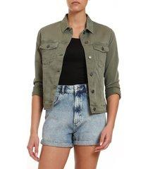 women's mavi jeans katy khaki twill jacket