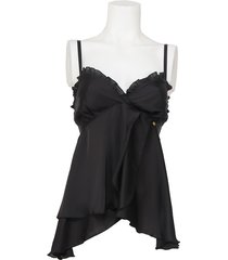 babydoll top amy gee - zwart / black