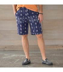 cabana shorts-navy ikat