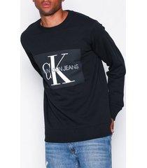 calvin klein jeans basic monogram logo sweat tröjor black