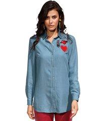 blouse amy vermont lichtblauw