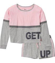 pigiama estivo con maglia corta (rosa) - bpc bonprix collection