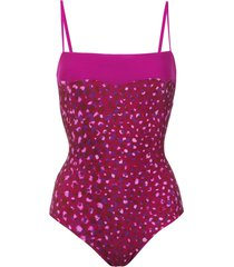 adriana degreas printed swimsuit - purple