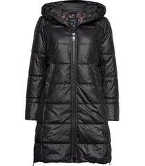 coat not wool gevoerde lange jas zwart taifun