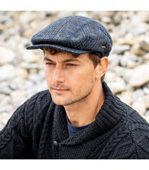 men's irish kerry cap gray blue small