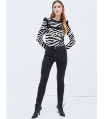 motivi jeans skinny push up con spalmatura donna nero