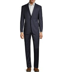 classic-fit pinstriped wool suit