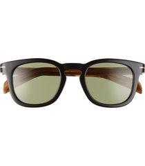 david beckham eyewear eyewear by david beckham 49mm square sunglasses in black /silver mirror at nordstrom