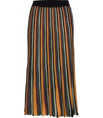 pleated midi length skirt in multicolour lurex stripe knälång kjol multi/mönstrad scotch & soda