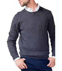 sweater cuello redondo gris arrow