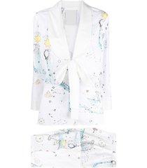 seen users aquarius horoscope-print suit - white