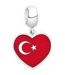 berloque bandeira da turquia de prata moments