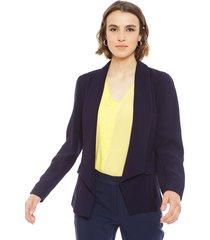 blazer ash azul - calce ajustado