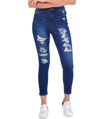 gogo jeans high rise destructed jegging