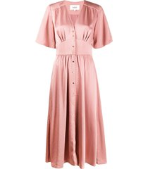 ba & sh button front dress - pink