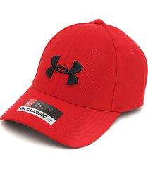 gorra rojo-negro under armour blitzing 3.0