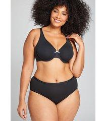 lane bryant women's cotton high-leg brief panty 26/28 black