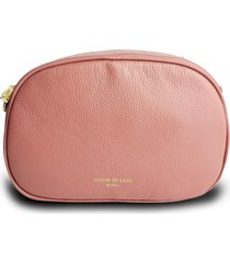 bolsa pochete transversal  house of caju couro alta qualidade prã¡tica ros㪠- ros㪠- feminino - dafiti