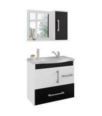 conjunto de banheiro fortaleza branco e preto