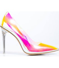akira cape robbin holographic pvc stiletto pump