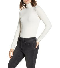 women's madewell ribbed turtleneck top, size small - ivory