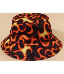 casual fire print bucket hat
